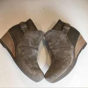 Dansko Shirley Suede Wedge Ankle Boot